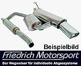 Friedrich Motorsport Gruppe A Anlage Sportauspuff Master of Sound Seat Leon 1P 1.2l TSI 77kW / 1.4l 16V 63kW / 1.6l 75kW
