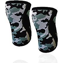 BANBROKEN CAMO 2.0 Rodilleras (2 unds) - 5mm Knee Sleeves - Halterofilia, deporte funcional, CrossFit, Levantamiento de Pesas, Running y otros deportes. UNISEX. (L)