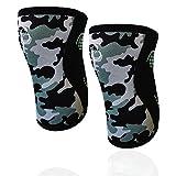 GENOUILLÈRES CAMOUFLAGE Banbroken (1 PAIRE) - 5 mm Knee Sleeves - Haltérophilie, Sport Fonctionnel, crossfit, Soulèvement de Poids, Running et autres sports. Unisexe. CAMO (M)
