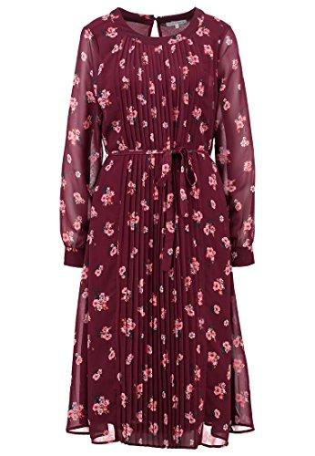 MINT&BERRY Damen Kleid Freizeitkleid - weinrot Grösse 36
