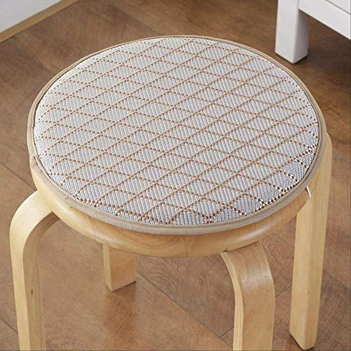 Guomvp 2 Stück runde Stuhlkissen, für den Sommer Multi Farben Sitzkissen, für Esszimmerstuhl Boden Pad Qualität Schaumstoffkissen 2 × Durchmesser ca. 34cm huiselingxing
