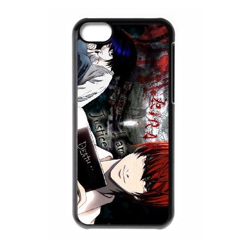 Death Note coque iPhone 5C Housse téléphone Noir de couverture de cas coque EBDXJKNBO11540