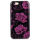 For Apple iPhone 6/6S(4.7 Zoll) IMD Case Cover, Ecoway TPU Porcelain flower series - Best Reviews Guide