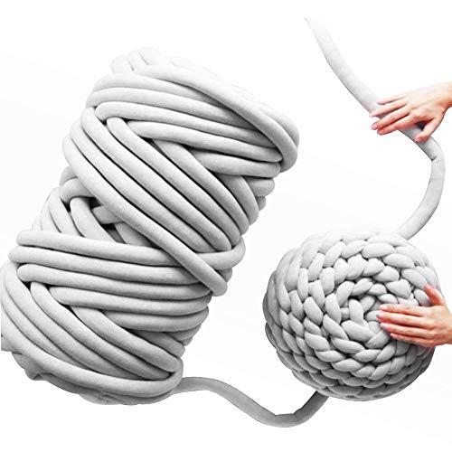 gaeruite Manuelles gesponnenes Filzen-riesiges Wolle-Umherziehendes Roving Garn, Handgemachtes DIY 4 Farben-Kern-Garn für Nadelfilz-Handspinnen