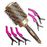 Cepillo profesional de pelo de jabalí redondo de 53 mm para uso con...