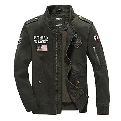Newbestyle Frühling Herbst Jacken Herren Army Jacke Casual Militär Baumwolle Pilotenjacke
