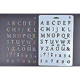 amupper letra Stencil Guía para niños–Flexible de plástico tamaño 10.2por 6,7pulgadas letterring03 blanco