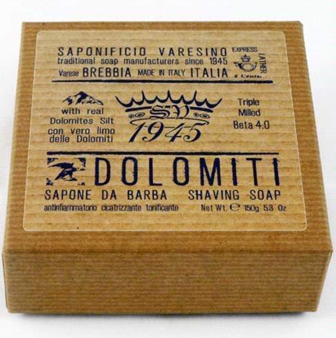 Saponificio Varesino Dolomiti BETA 4.0 Deluxe Hart Rasierseife 150g Puck - Harte Rasierseife