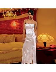robe en chiffon de haut grade white halter robe robe fashion