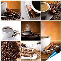 Fliesenaufkleber Für Bad Und Küche   10x10 Cm   Motiv COFFEE COLLAGE   20  Fliesensticker Für