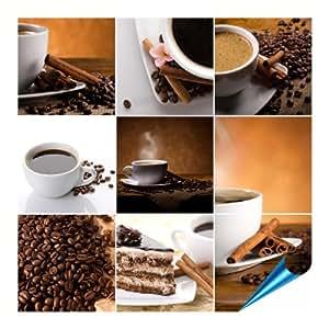 fliesenaufkleber f r bad und k che 10x10 cm motiv coffee collage 20 fliesensticker f r. Black Bedroom Furniture Sets. Home Design Ideas