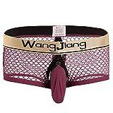 Lannister Pantaloncini Traspiranti da Uomo Maglia Boxer da Uomo in Pantaloncini Abbigliamento Festivo Uomo Bikini Slip Lingerie Pantaloncini Erotici Thong Jockstrap (Color : Winered1, Size : L)