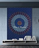 Best Cotton Craft Picnic Blankets - Maniona Crafts Blue Tapestry Wall Hanging Mandala Tapestries Review