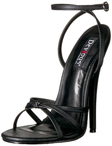 Devious Damen DOMINA-108, Black Polyurethane, 38 EU High Heel Wrap-around