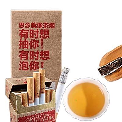 Mabanglai puerh Cigarettes de thé sans tabac et de nicotine Poids Thé Pu'er Thé noir Thé Puer Thé Chinois Thé Pu Er Thé Rouge Thé Pu-erh Vieux Arbres Pu Erh Thé Poids Net 20 g / paquet