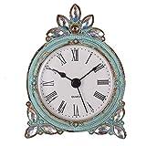 NIKKY HOME Reloj de Tabla del Cuarzo del estaño de la Vendimia con el Rhinestone Brillante cristalino, Aqua