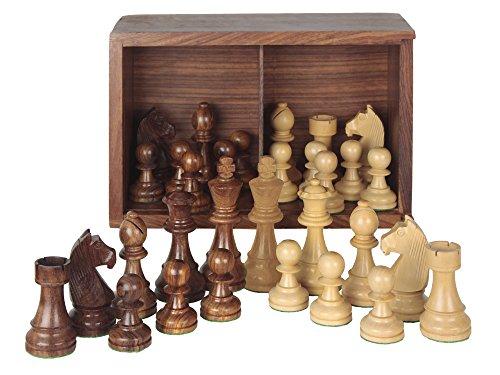 Aquamarine Games - Piezas de ajedrez Staunton 5 en caja de lujo, juego