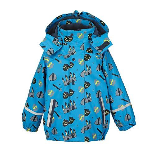 Sterntaler Jungen Regenjacke mit Innenjacke, 3in1 Multifunktionsjacke, Alter: 3-4 Jahre, Größe: 104, Blau (Azurblau)