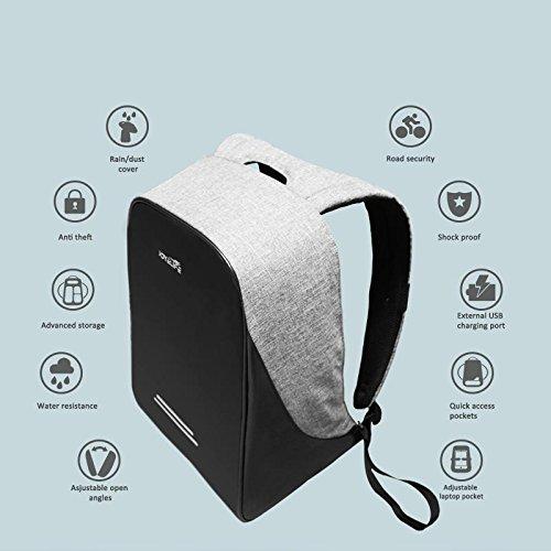 25L outdoor viaggiare intelligente antifurto sicurezza anti-perse zaino notebook impermeabile zaino