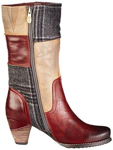 Manitu970704 - Stivali alti con imbottitura leggera Donna Rosso (Rot/Natur)