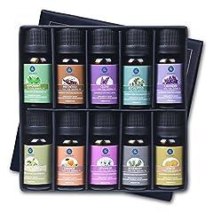 Idea Regalo - Lagunamoon Olio Essenziale per Diffusori, 10 Oli Essenziali Aromaterapia Pure