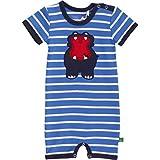Fred's World by Green Cotton Baby-Jungen Hippo Stripe Beach Formender Body, Blau (Royal Blue/Cream 019800006), 98