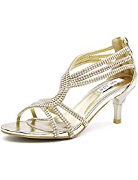 888ada7b75bc80 SheSole Ladies Womens Wedding Strappy Heel Party Sandals Prom Shoes