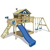 Spielhaus mit Doppelschaukel, Rutsche & Sandkasten