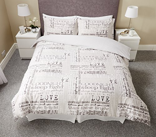 Pieridae Dream Love Modern Single Double King Duvet Bedding & Pillowcase Cover Dreams Set (KING)