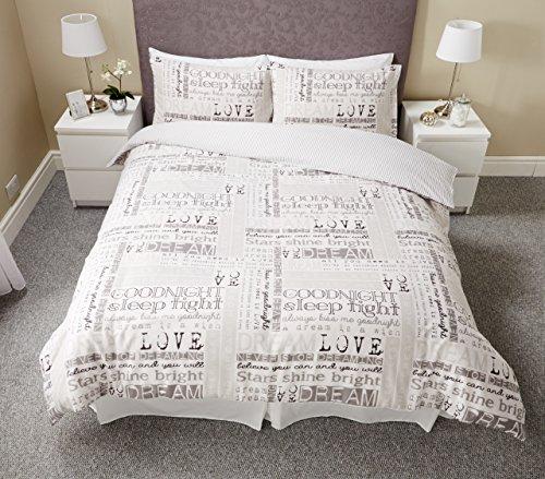 Pieridae Dream Love Modern Single Double King Duvet Bedding & Pillowcase Cover Dreams Set (KING)