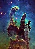 "Astronomie-Poster ""Säulen der Schöpfung"" im Adlernebel M16NGC 6611NASA, Papier, a2"