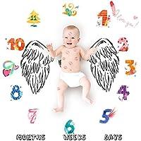 ULTNICE Manta de la fotografía del bebé Recién nacido Photo Props Disparos Telón de fondo mensual del bebé Manta Manta de la fotografía del corazón del ala