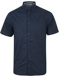 Tokyo Laundry Hommes Fallbrook T-Shirt Manches Courtes Col Chemise à Motif  Haut en Coton 4ee9f2b1b876
