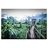artboxONE Poster 150x100 cm Natur Dschungelpfad