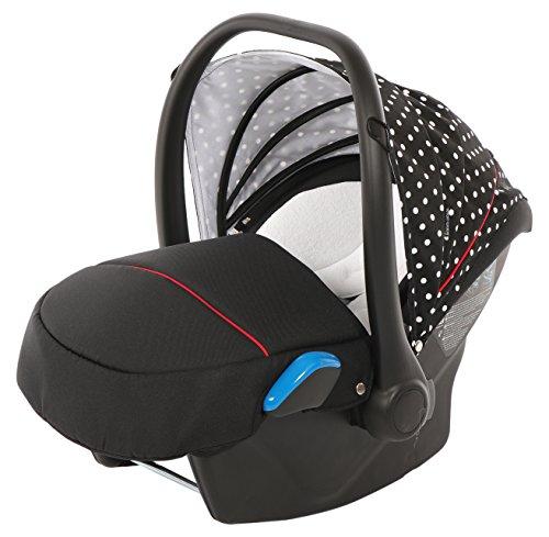 Preisvergleich Produktbild knorr-baby 33701-1 Babyschale Milan zu Voletto Tupfen, schwarz