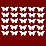 Decorative embellishments / CHRISTMAS Decoration - Pack of 25 BUTTERFLY Acrylic Mirrors (2.5cm each)