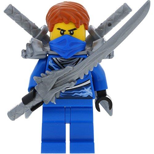 LEGO Ninjago Minifigur Jay aus Set 70728 incl. 3 GALAXYARMS Schwertern (Ninjago Lego Set Jay)