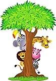 Wandtattoo Kinder Tiere Dschungel OEM 2639(Maße des 10cm bis 130cm Höhe), 130 cm Vergleich