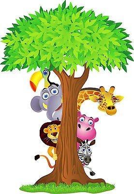 dschungel wandtattoo Wandtattoo Kinder Tiere Dschungel OEM 2639(Maße des 10cm bis 130cm Höhe), 130 cm
