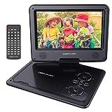 DBPOWER 11.5' Lecteur DVD Portable, Pile Rechargeable de 5 Heures, avec écran orientable, compatibilité Carte SD et Interface USB, lit Directement Les formats AVI, RMVB, MP3 et JPEG (Noir)