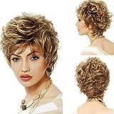 La Sra general europea peluca mullida cable de alta temperatura pelo corto pelo rizado y American Beauty ayudas