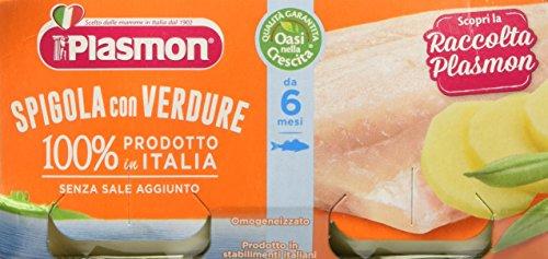 Plasmon Omogeneizzato di Pesce Spigola e Verdure 24 Vasetti da 80 gr Totale 1.92 kg