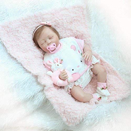 nicery Reborn bebé muñeca suave Simulación Silicona Vinilo 22(48–55cm), los niños amigo magnético boca realista juguete niño Niña con disfraz para negro de acción de gracias viernes día de Navidad