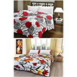 Craftdia Cotton Printed Set Of 2 Single Ac Blanket/Dohar Multicolor, 11 X 14