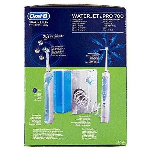 Oral-B Waterjet Sistema Pulente con Idropulsore + Oral-B Pro 750  Crossaction Spazzolino Elettrico Ricaricabile a0bfcc2be731
