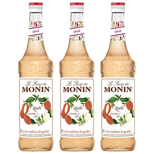 Monin Sirup Litschi, 0,7L 3er Pack Monin Rose