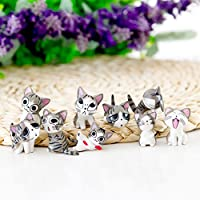 Elegante simulador de Animales, 9 Piezas, simulación Kawayi Mini Gato muñeca Musgo Micro Mundo Bonsai jardín pequeño Adorno Paisaje hogar jardín decoración
