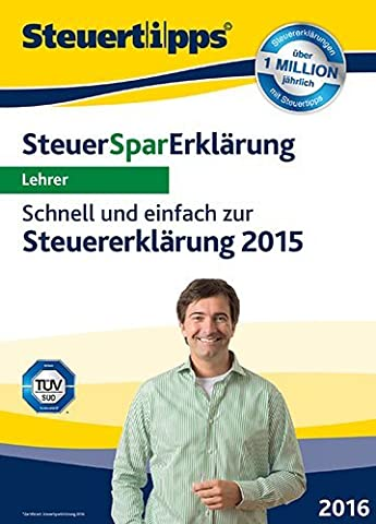 SteuerSparErklärung 2016 für Lehrer (für Steuerjahr 2015) [PC Download]
