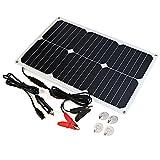 ALLPOWER Solar Panel Battery Maintainer 18V 12V 18Watt Solarzelle Auto Boot Power Panel Ladegerät Wartung für Auto Motorrad Traktor Boot Batterien 12V Batterien