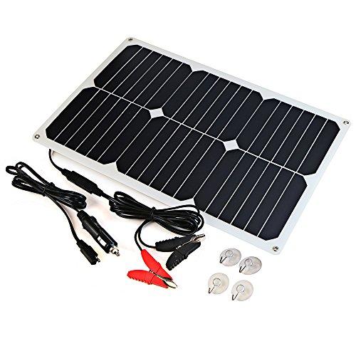 ALLPOWERS Solar Batterie Maintainer 18V 12V 18W Solar Auto Boots Energien Verkleidungs Batterieladegerät Betreuer für Automobil, Motorrad, Traktor, Boots, Batterien (Hat Solar-sonne)